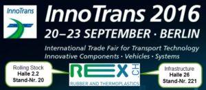 REX InnoTrans 2016 Trade Fair